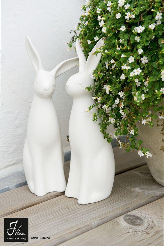 domowe dekoracje na święta wielkanocne - minimalistyczne króliki