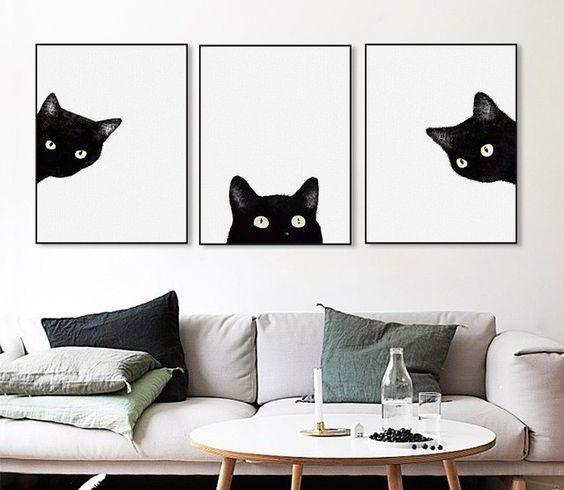 Wystrój wnętrz: Dodatki z motywem kota