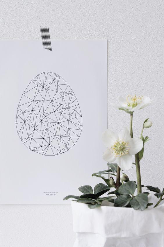 domowe dekoracje na święta wielkanocne - geometryczny wzór