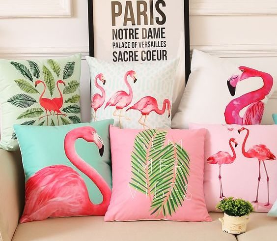 Wystrój wnętrz: Dodatki z flamingiem