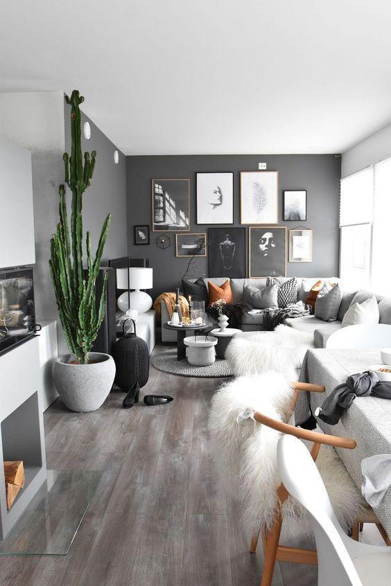 Stylowe połączenia: różne odcienie szarości na podłogach