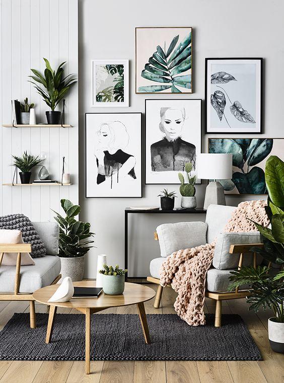 Wystrój wnętrz inspiracje - plakaty tropikalne