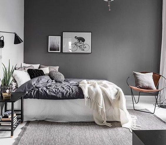 Stylowe połączenia: różne odcienie szarości w sypialni