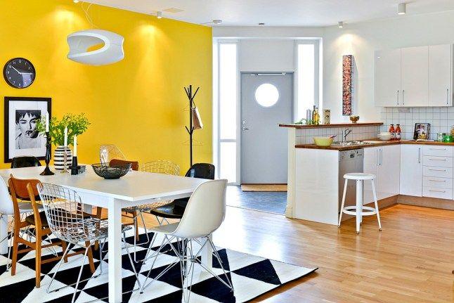 Żółta jadalnia - psychologia kolorów