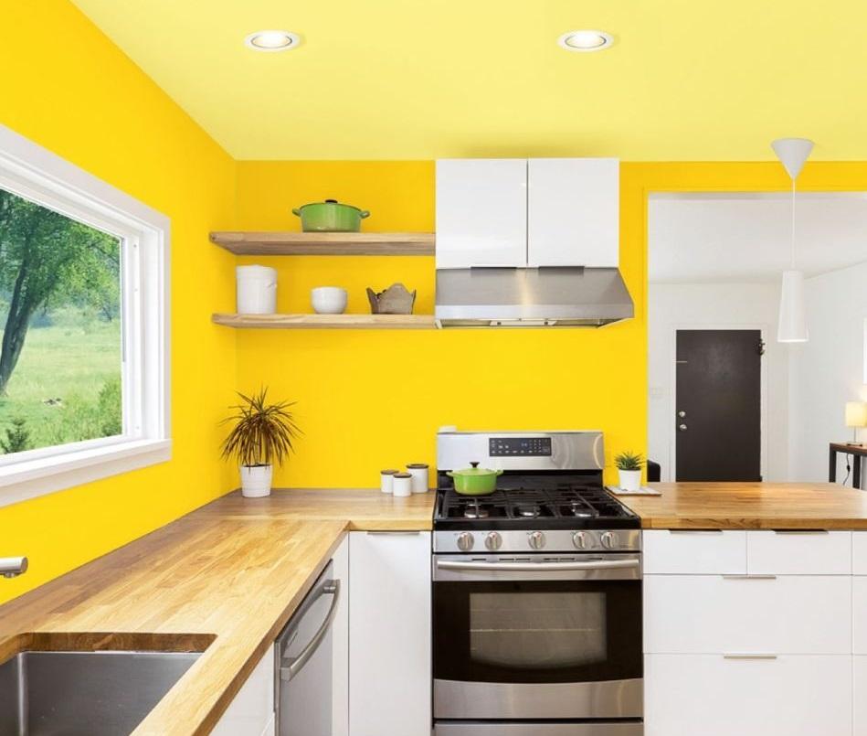Żółta aranżacja kuchni - psychologia kolorów