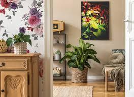 Motywy roślinne na ścianę do przedpokoju